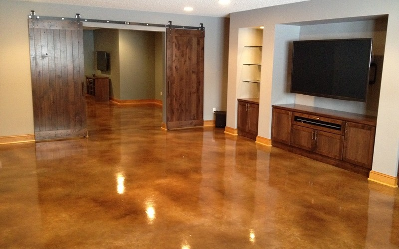 Stained Concrete Floors In Homes : Concrete floors midwest direct flooring